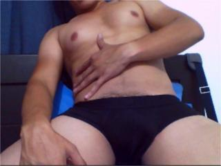 Picture of the sexy profile of Dragos, for a very hot webcam live show !